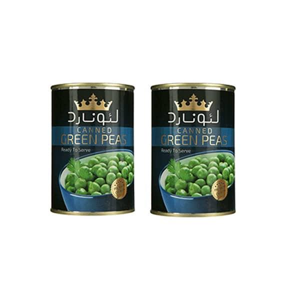 کنسرو نخود سبز لئونارد - 420 گرم بسته ۲ عددی