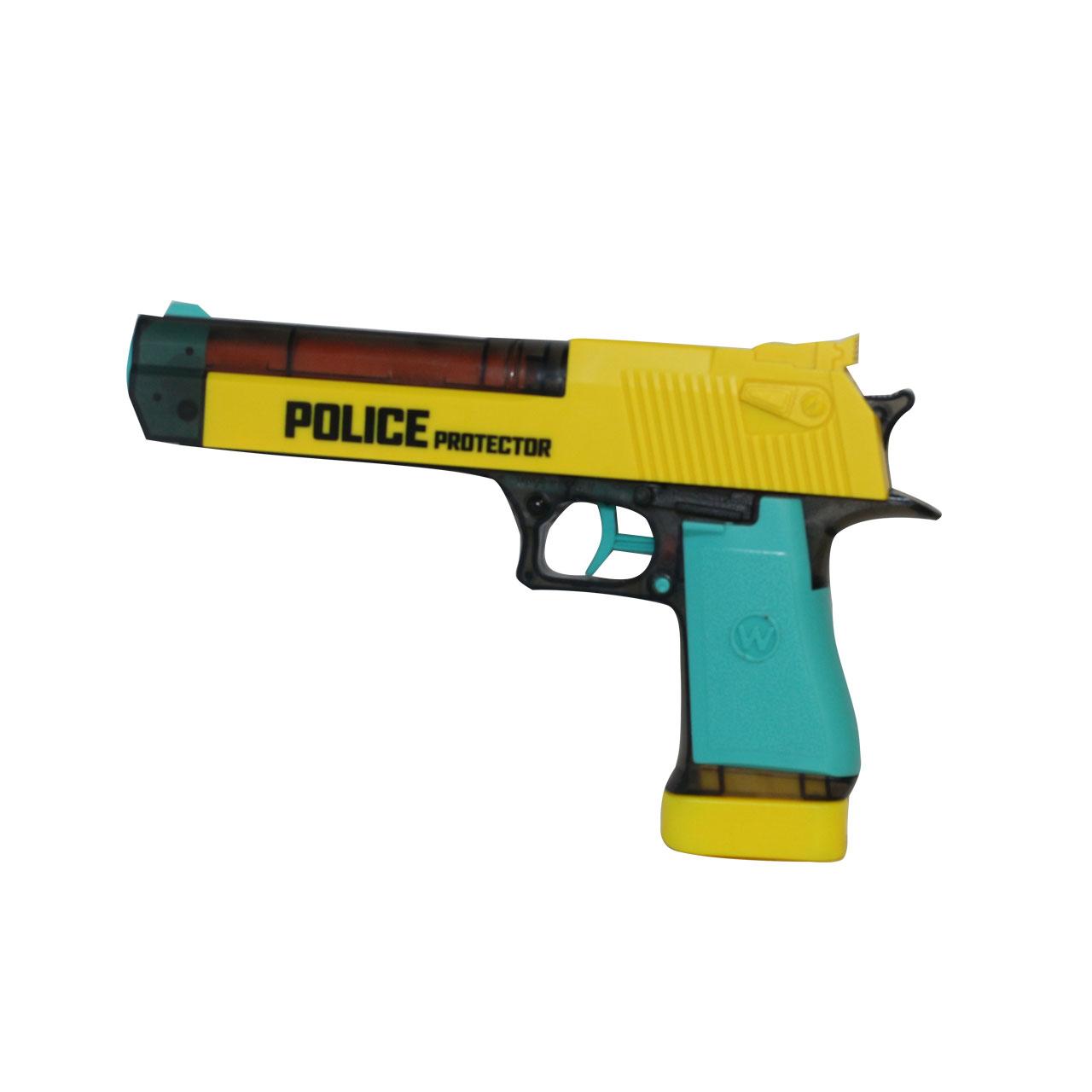 خرید                     تفنگ بازی جی ای تویز طرح کلت پلیس کد 64837