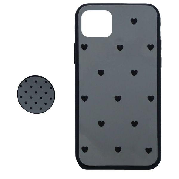 کاور طرح Heart مدل BH-01 مناسب برای گوشی موبایل اپل Iphone 11 به همراه نگهدارنده