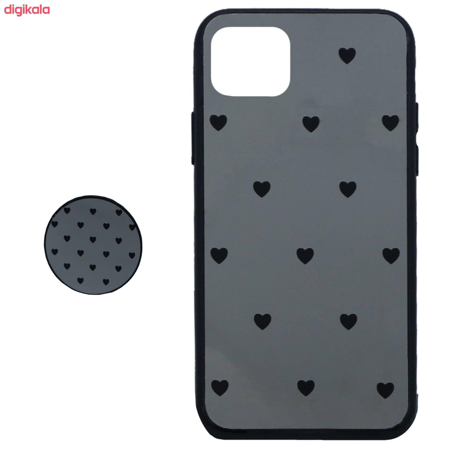 کاور طرح Heart مدل BH-01 مناسب برای گوشی موبایل اپل Iphone 11 به همراه نگهدارنده main 1 1