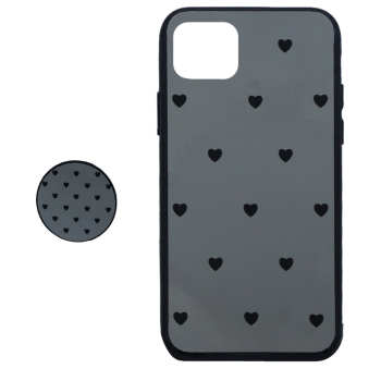کاور طرح Heart مدل BH-01 مناسب برای گوشی موبایل اپل Iphone 11 Pro به همراه نگهدارنده