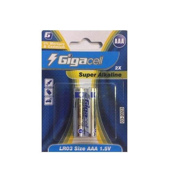 بررسی و {خرید با تخفیف}                                     باتری نیم قلمی گیگاسل مدل  LR03بسته 2 عددی                             اصل