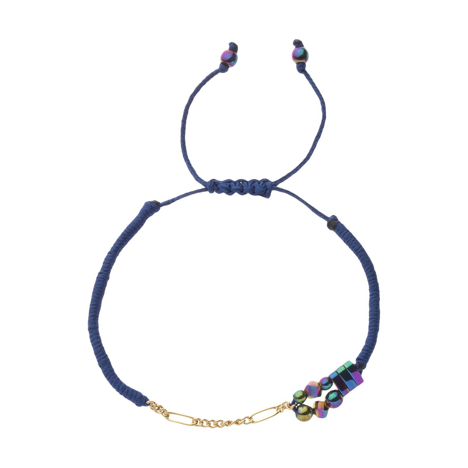 دستبند طلا زنانه سنجاق مدل x094287 -  - 2