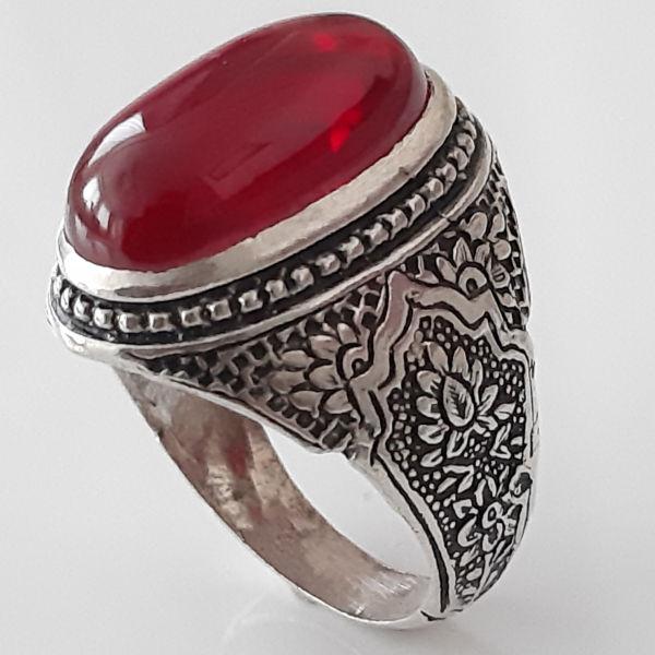 انگشتر نقره مردانه کد ka06