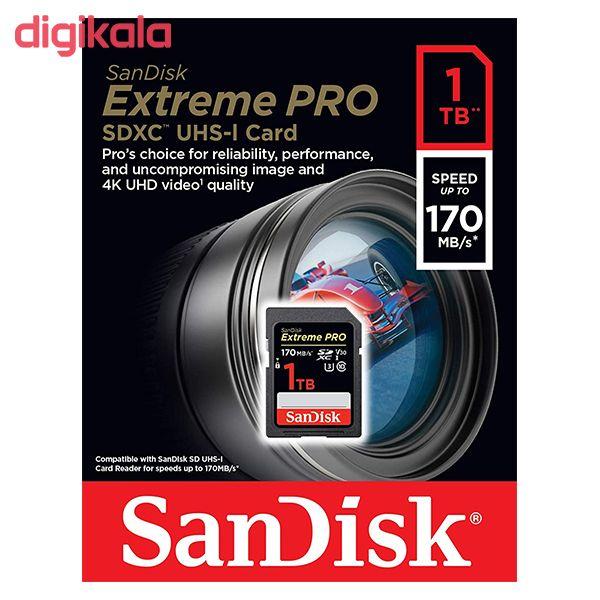کارت حافظه SDXC سن دیسک مدل Extreme Pro V30 کلاس 10 استاندارد UHS-I U3 سرعت 170mbps ظرفیت 1 ترابایت main 1 1