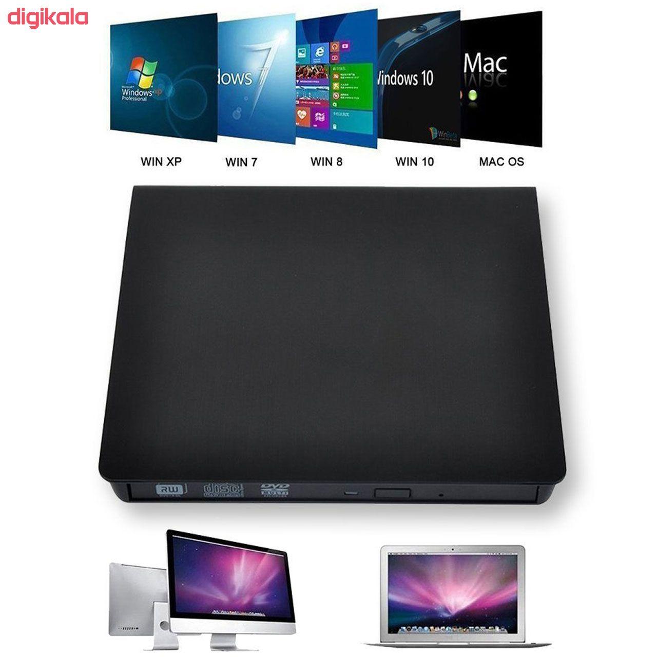 قاب تبدیل درایو DVD اینترنال به اکسترنال مدل 9.5 main 1 2