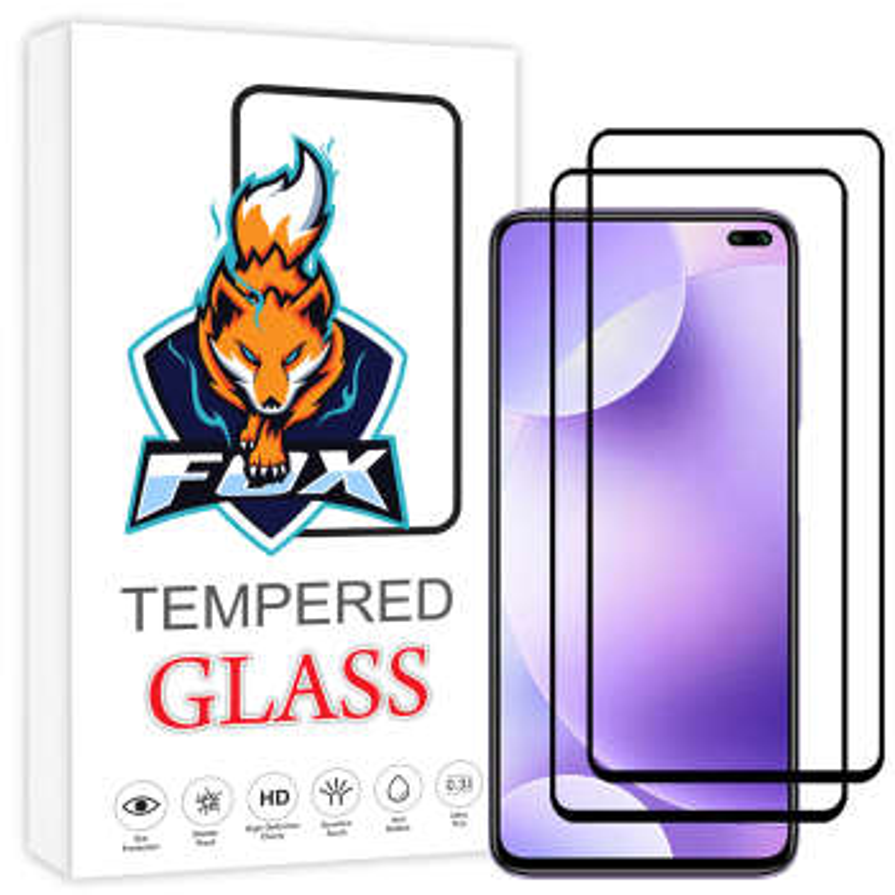 محافظ صفحه نمایش فوکس مدل PT001 مناسب برای گوشی موبایل شیائومی  Redmi K30 بسته دو عددی