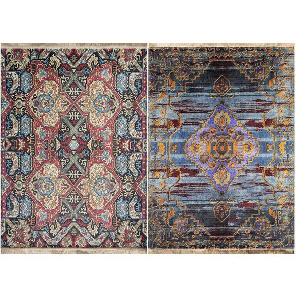 فرش ماشینی دو رو نیروانا مدل Shiraz