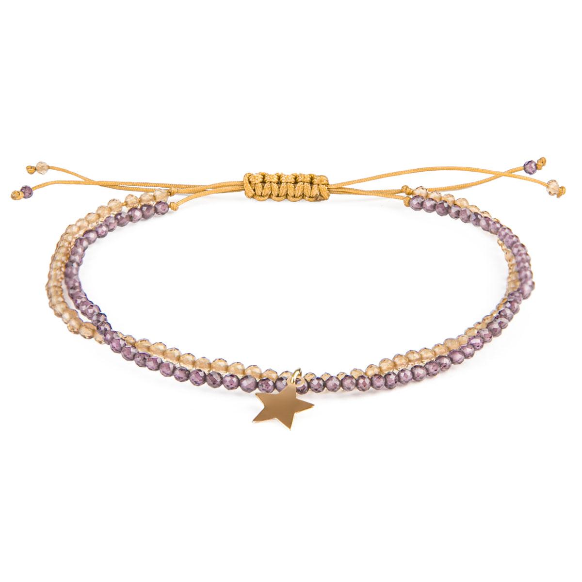 دستبند طلا 18 عیار زنانه ریسه گالری مدل A1293