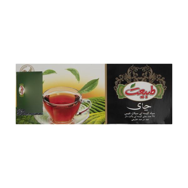 چای سیاه کیسه ای سیلان نفیس طبیعت - بسته 25 عددی