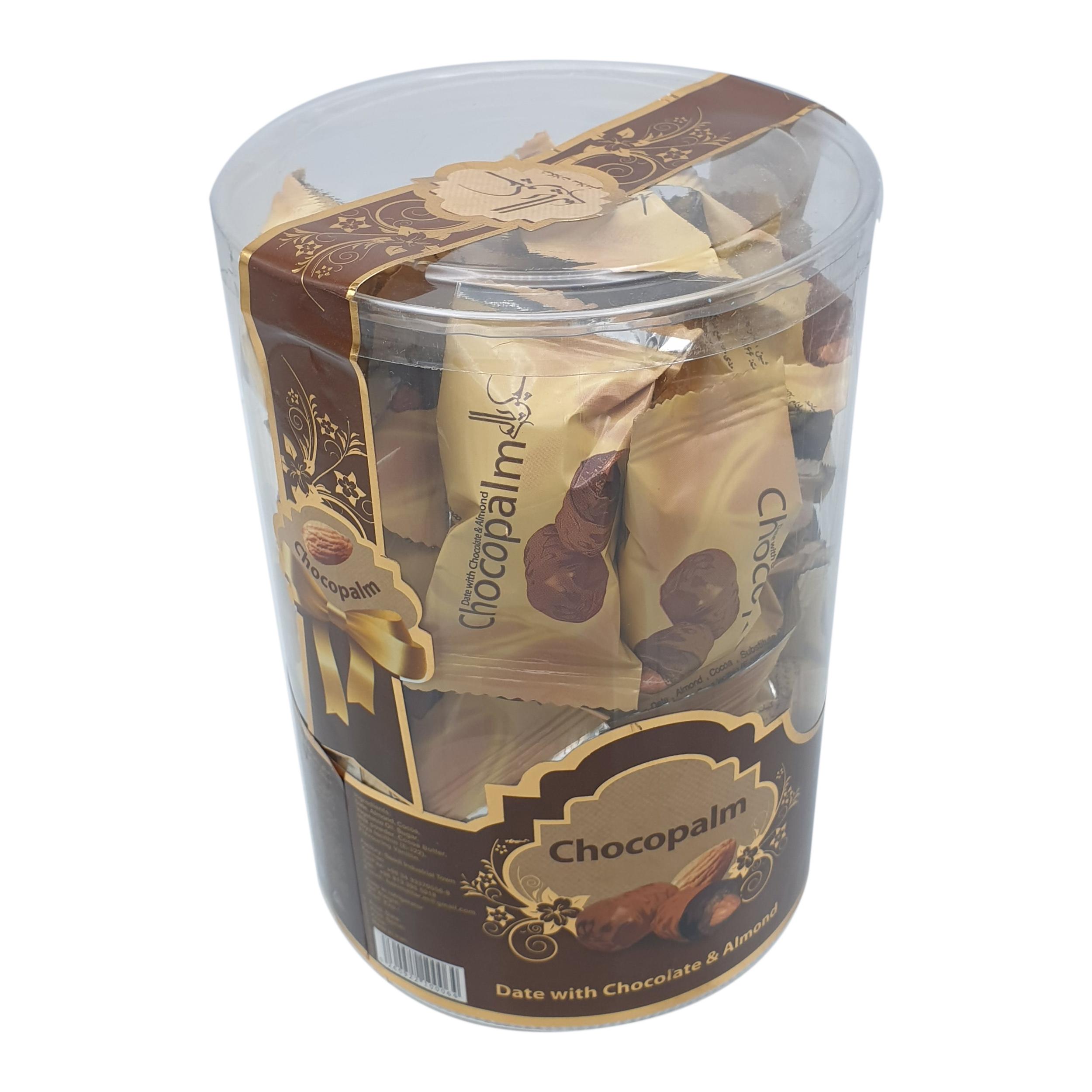 شکلات خرمایی با مغز بادام چکوپالم - 350 گرم