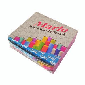 گچ رنگی مارلو مدل رنگینک بسته 12 عددی