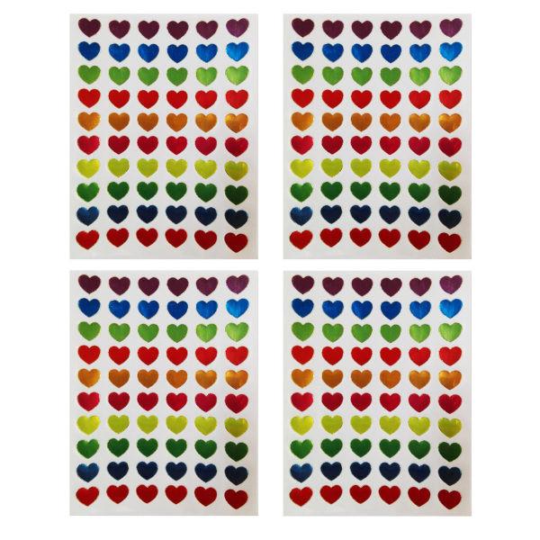 برچسب کودک طرح قلب مدل s113 بسته 4 عددی