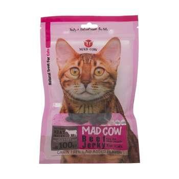 غذای تشویقی گربه مدکاو مدل premium beefjerky وزن 100 گرم