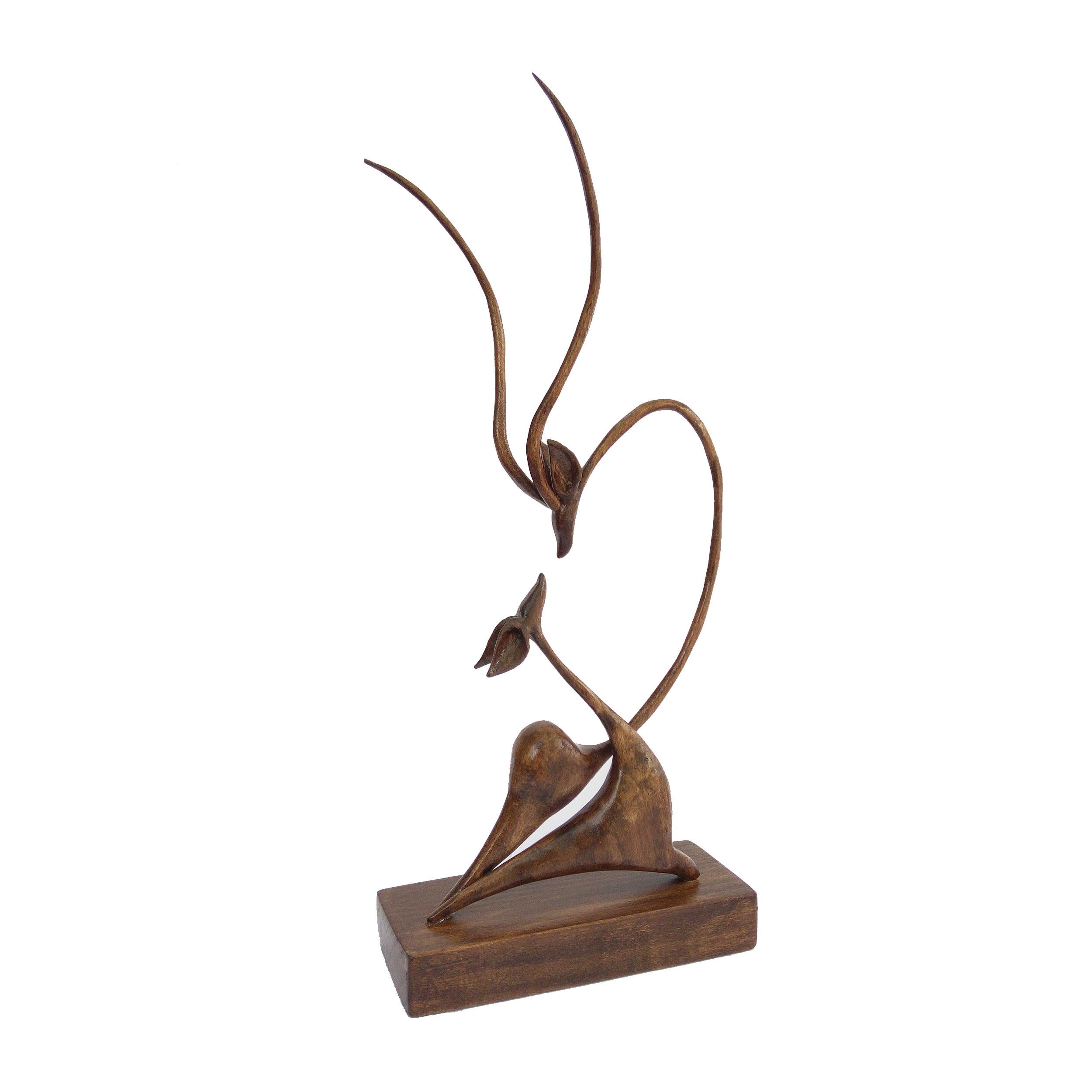 خرید                      مجسمه چوبی طرح غزال های عاشق مدل RV841