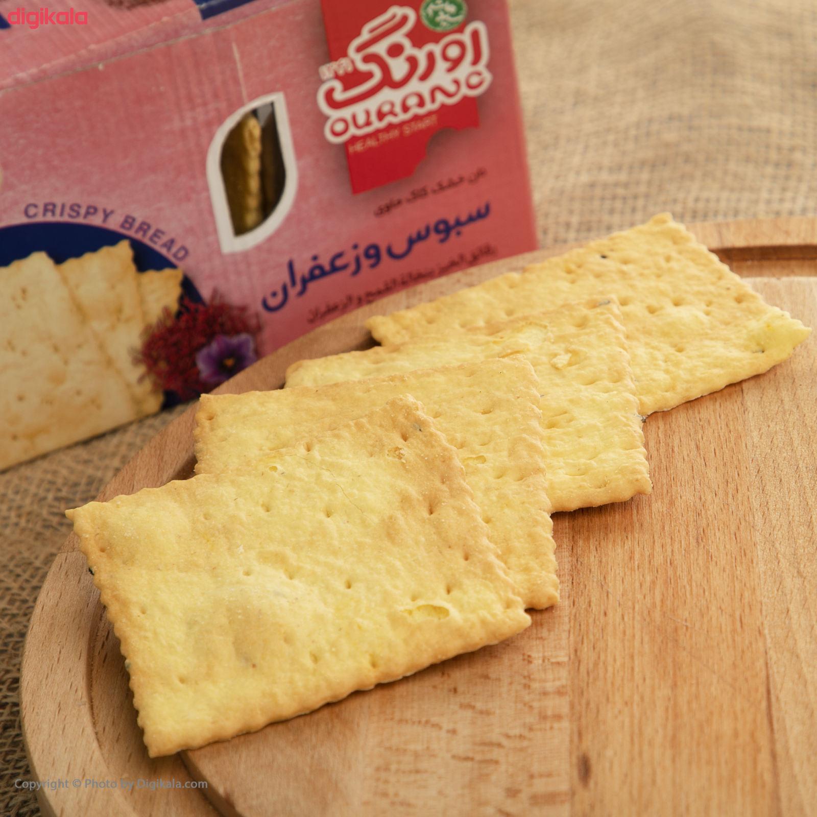 نان سنتی کاک سبوس دار زعفرانی اورنگ مقدار 400 گرم main 1 2