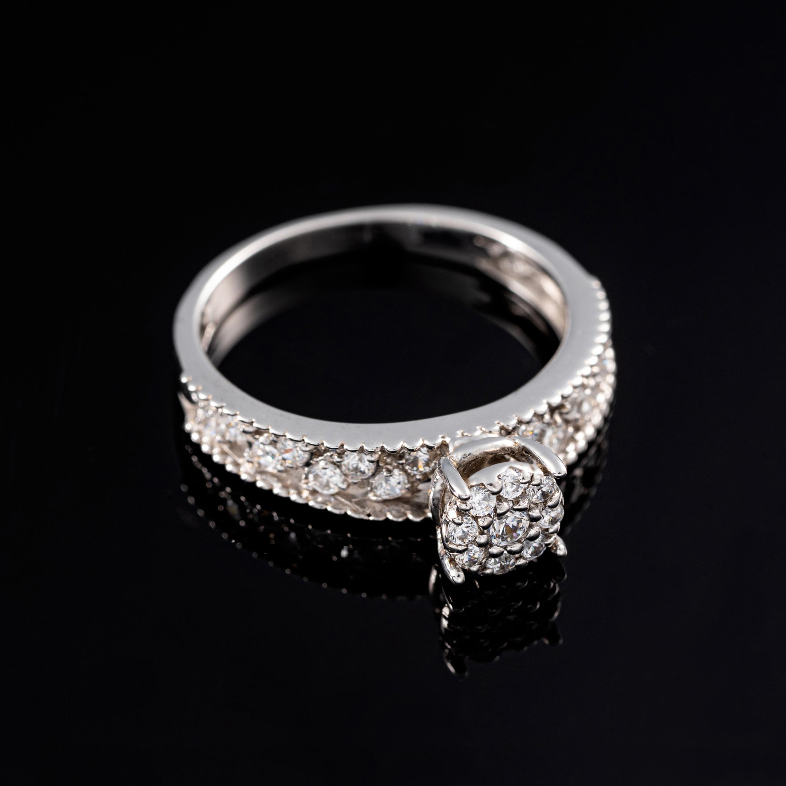 انگشتر طلا 18 عیار جواهری سون مدل 2045