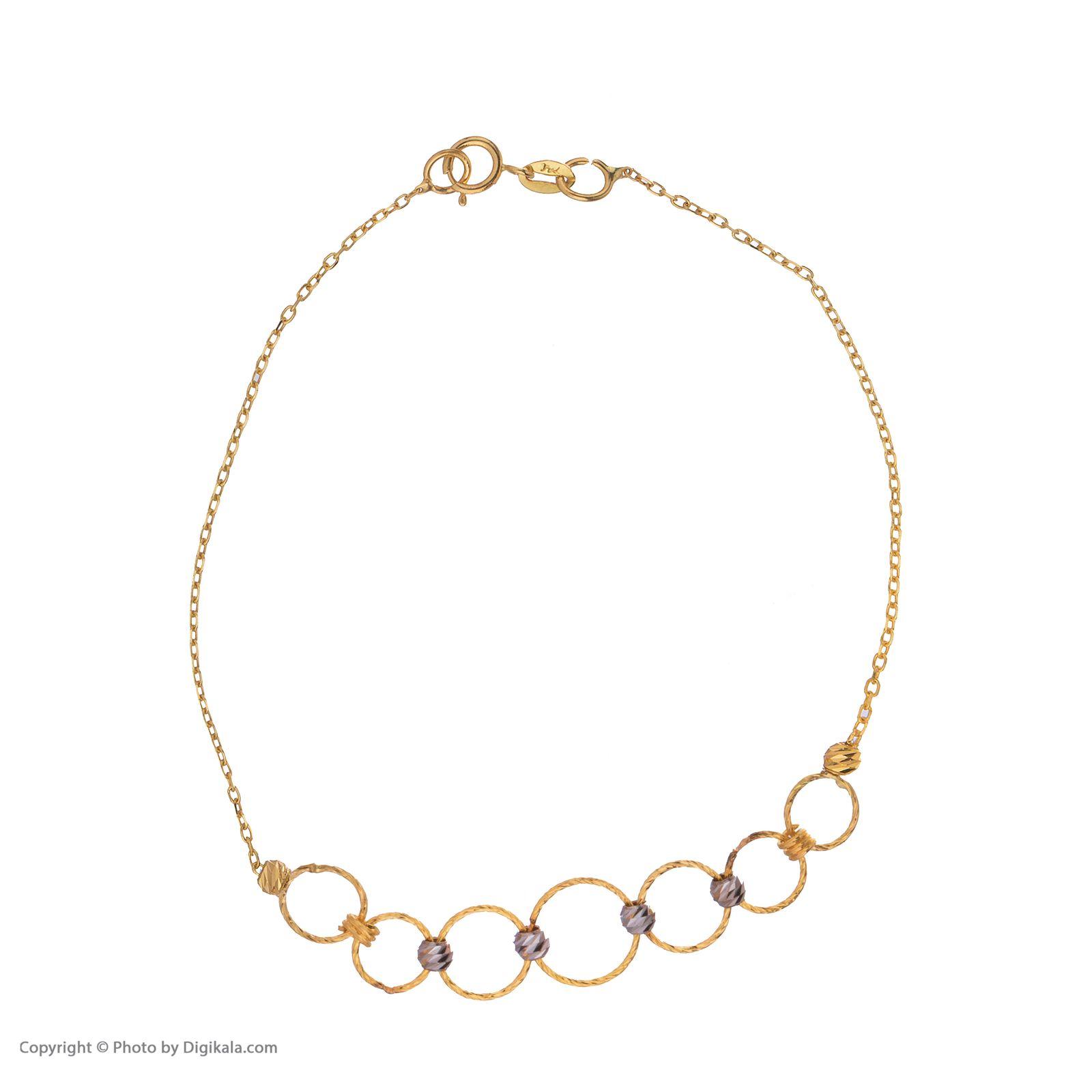 دستبند طلا 18 عیار زنانه مایا ماهک مدل ZMB1054 -  - 3