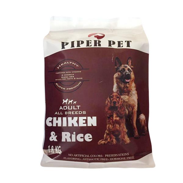 غذای خشک سگ بالغ پی پر مدل Chiken وزن 1.8 کیلوگرم