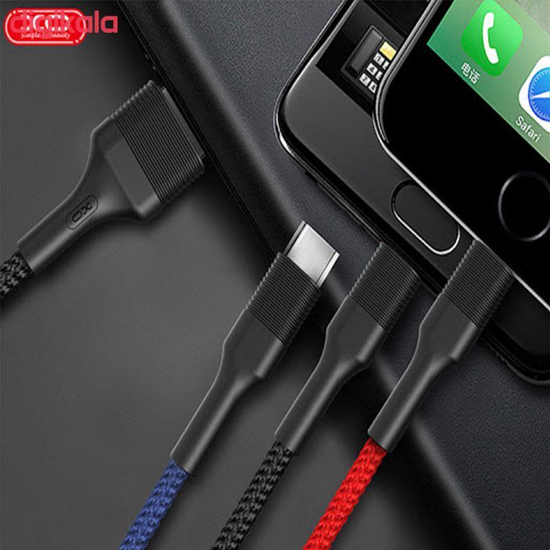کابل تبدیل USB به microUSB/USB-C/ لایتنینگ ایکس او مدل NB-54 طول 1 متر main 1 5