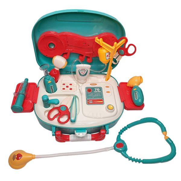 ست اسباب بازی تجهیزات پزشکی مدل کیف دکتری موزیکال کد 660 مجموعه 16 عددی