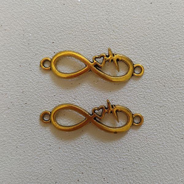 پلاک دستبند طرح بی نهایت کد HN1537 بسته 2 عددی