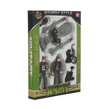 اسباب بازی جنگی طرح سرباز مدل sturdy style مجموعه 6 عددی