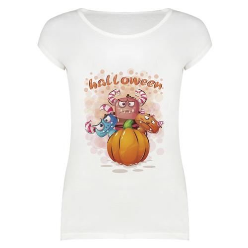 تی شرت زنانه طرح HALLOWIN کد 4185