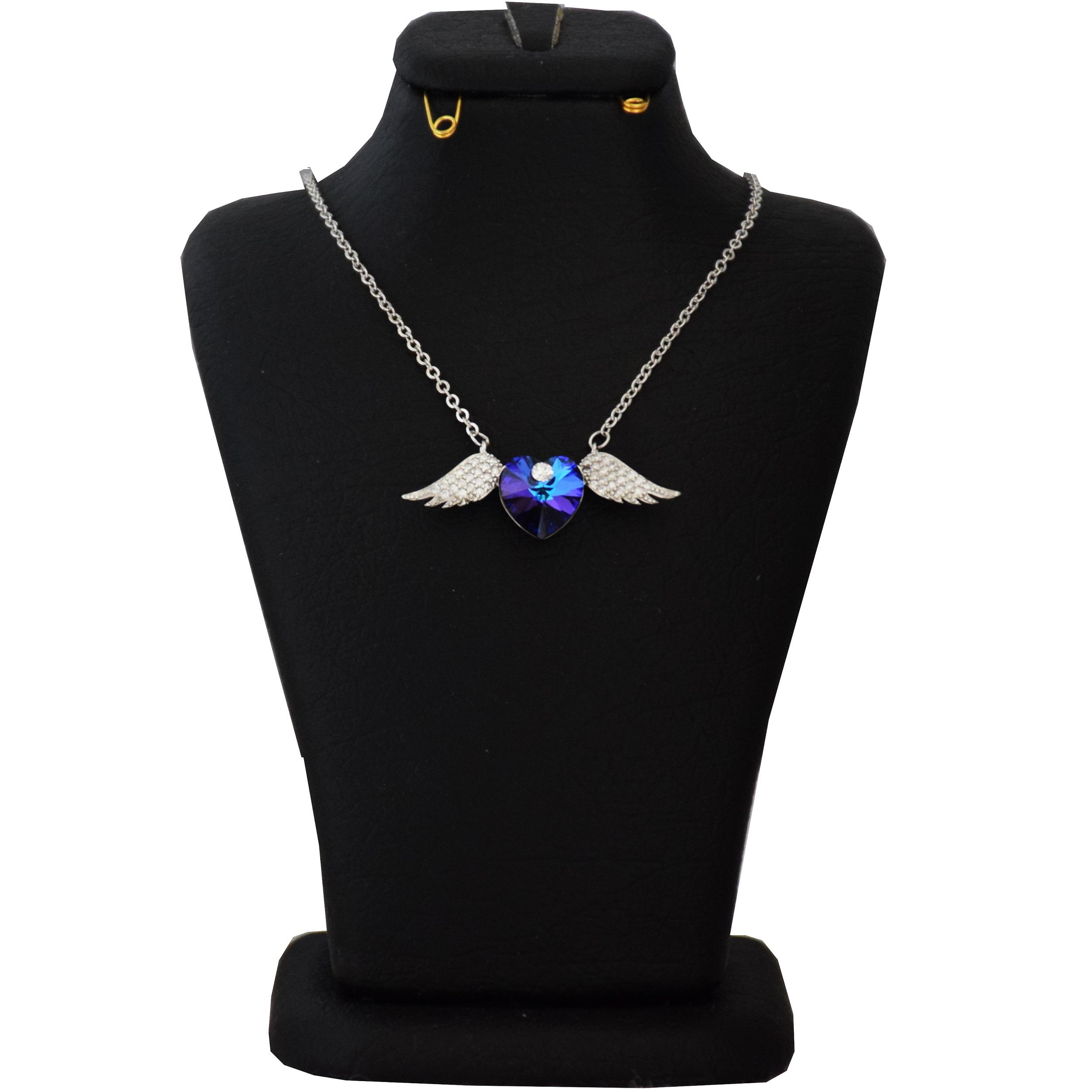 گردنبند نقره زنانه سواروسکی طرح بال کد NV 021