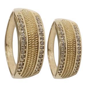ست انگشتر زنانه و مردانه سلین کالا مدل طلا کد ce-As22