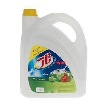 مایع ظرفشویی تاژ حاوی سرکه با رایحه لیمو سبز مقدار 3.75 کیلوگرم