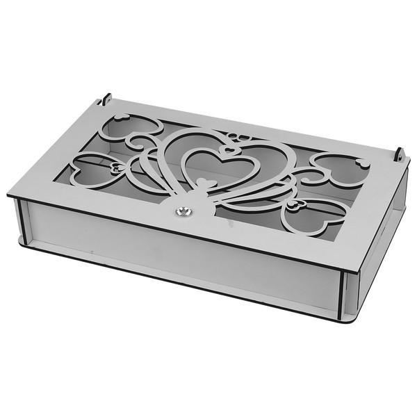 جعبه چای کیسه ای طرح سه قلب کد W2