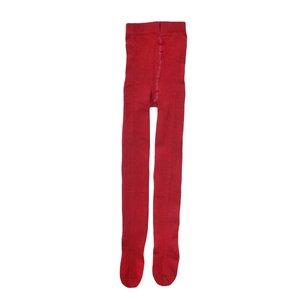 جوراب شلواری دخترانه کد 52 رنگ زرشکی