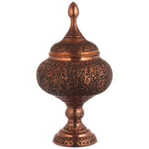 شکلات خوری قلمزنی مسی مدل اصفهان کد s12