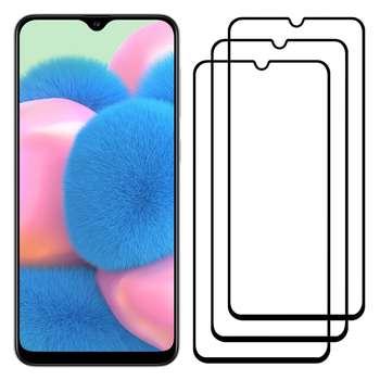 محافظ صفحه نمایش مدل FCG مناسب برای گوشی موبایل سامسونگ Galaxy A30s بسته سه عددی