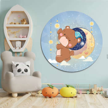 تابلو کودک و نوزاد مدل خرس کوچولو کد NIL_8