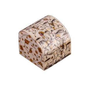 جعبه جواهرات استخوانی طرح چوگان سیاه قلم مدل میشا کد 3