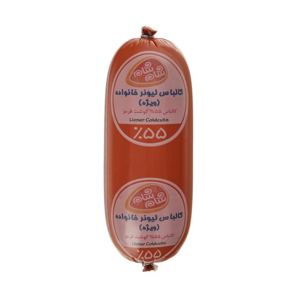 کالباس لیونر ويژه خانواده 55 درصد گوشت قرمز شام شام - 500 گرم
