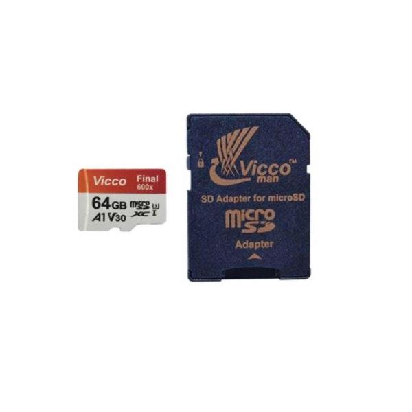 کارت حافظه microSDXC ویکومن مدل Final 600X کلاس 10 استاندارد Uhs-I U3 سرعت 90Mps ظرفیت 64 گیگابایت به همراه آداپتور SD