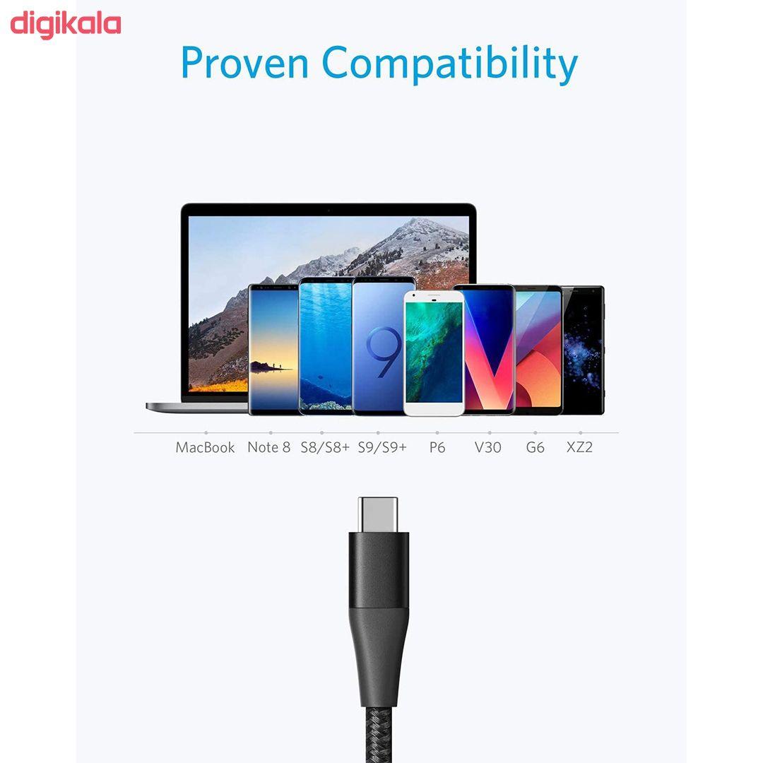 کابل تبدیل USB به USB-C انکر مدل PowerLine Plus II طول 0.9 متر main 1 3