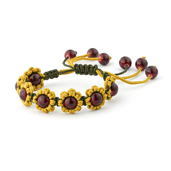 دستبند زنانه مدل گل آفتابگردان