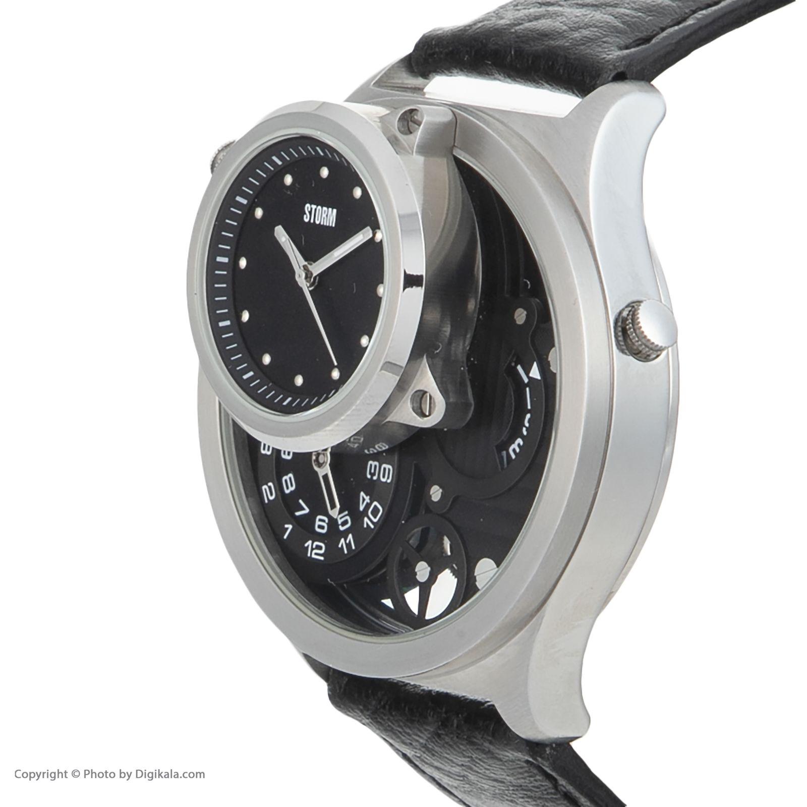ساعت مچی عقربه ای مردانه استورم مدل ST 47144-BK -  - 4