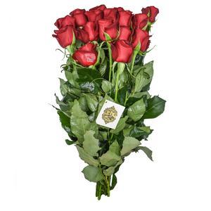 دسته گل رز هلندی قرمز هیمان کد Ro08
