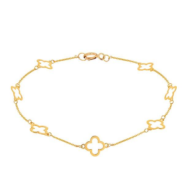 پابند طلا 18 عیار زنانه عدنان مدل YL49