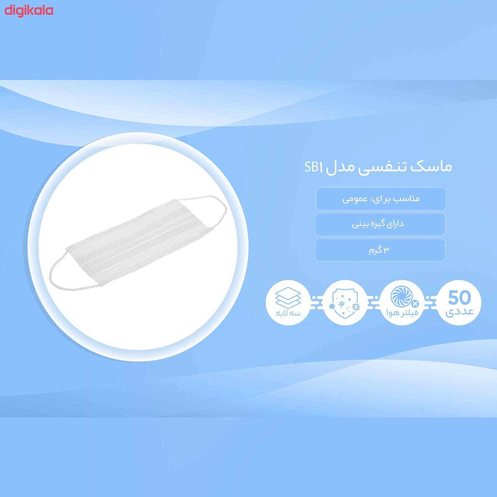 ماسک تنفسی مدل SB1 بسته 50 عددی main 1 4