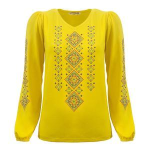بلوز زنانه افراتین کد 7525 رنگ زرد