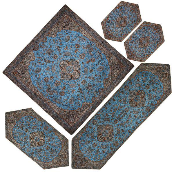 ست 5 تکه رومیزی ترمه مدل شاه عباسی کد BC88