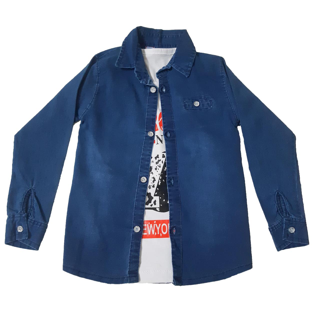 ست تی شرت و پیراهن پسرانه کد 154