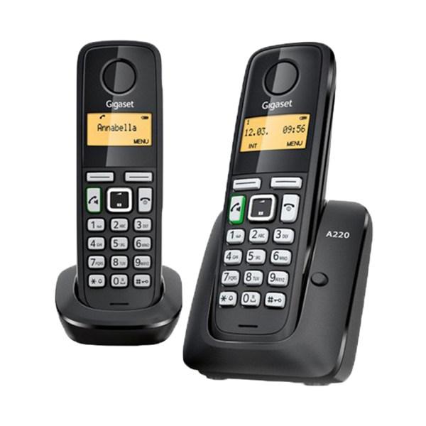 تلفن بی سیم دو گوشی گیگاست مدل A220 Duo