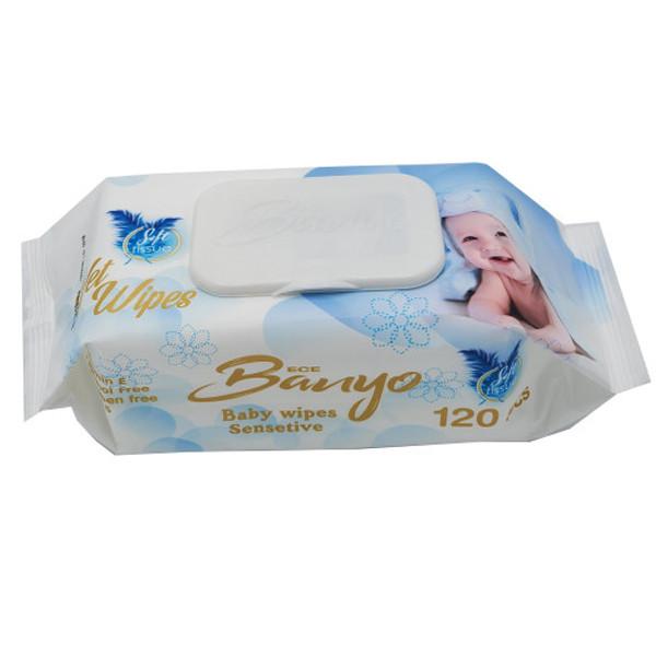 دستمال مرطوب کودک بانیو مدل 03 بسته 120 عددی